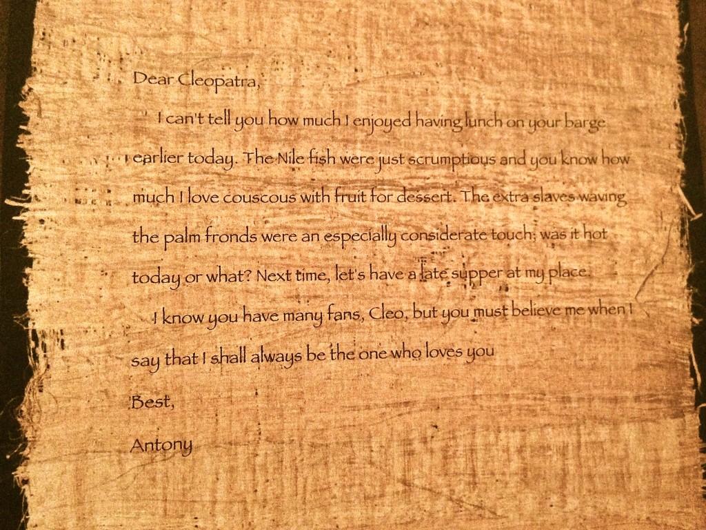 Dear Cleopatra